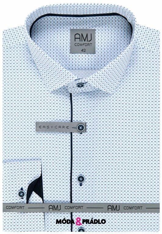 abea4f7bdb4b Pánska košeľa AMJ Comfort VDSBR 1036 bielomodrá - moda-pradlo.sk
