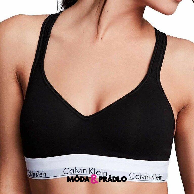 b9d2be9305d Podprsenka Calvin Klein Bralette Modern Cotton QF1654E čierna - moda ...