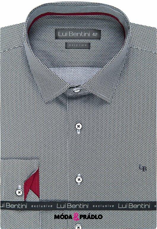 0c82b622c62b Luxusná pánska košeľa Lui Bentin LD 194 čiernobiela - moda-pradlo.sk