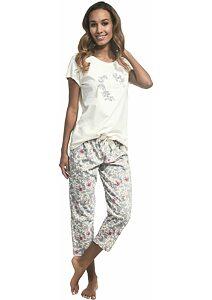 ad16ffc4d01a Dámske pyžamo s 7 8 nohavicami Cornette Belle smotanová