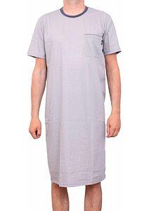 2ae789e53800 Bavlnená pánska nočná košeľa Pleas 166860 sivá