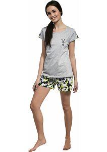 0e5733b24ac8 Dievčenské pyžamo Cornette Fun  amp  Young Camo šedolimet