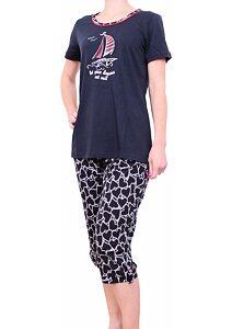 55e7310d2aea Námornícke pyžamo pre ženy Vamp! Brooke 5503 navy