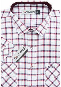 34be0e7495a6 Kockovaná pánska košeľa AMJ Greed SK 361 modročervená