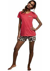 2ff17645dd19 Krátke dámske pyžamo Cornette Emoticon tm.ružová
