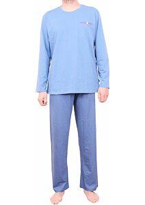 be51de44fd3d Pohodlné pánske pyžamo Pleas 164600 svetlo modré