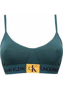 020448460 Calvin Klein Bralette Unlined Triangle QF4919E tm.zelená