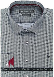 07dd17e66097 Luxusná pánska košeľa Lui Bentin LD 194 čiernobiela