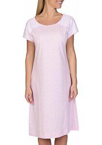 724194123468 Nežná dámska nočná košeľa Pleas 166764 ružové melé