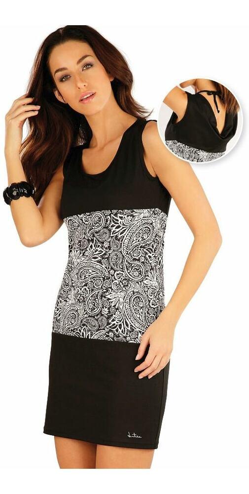 e9b9e4aca Plážové černobílé šaty pro ženy Litex 57058 - moda-pradlo.sk