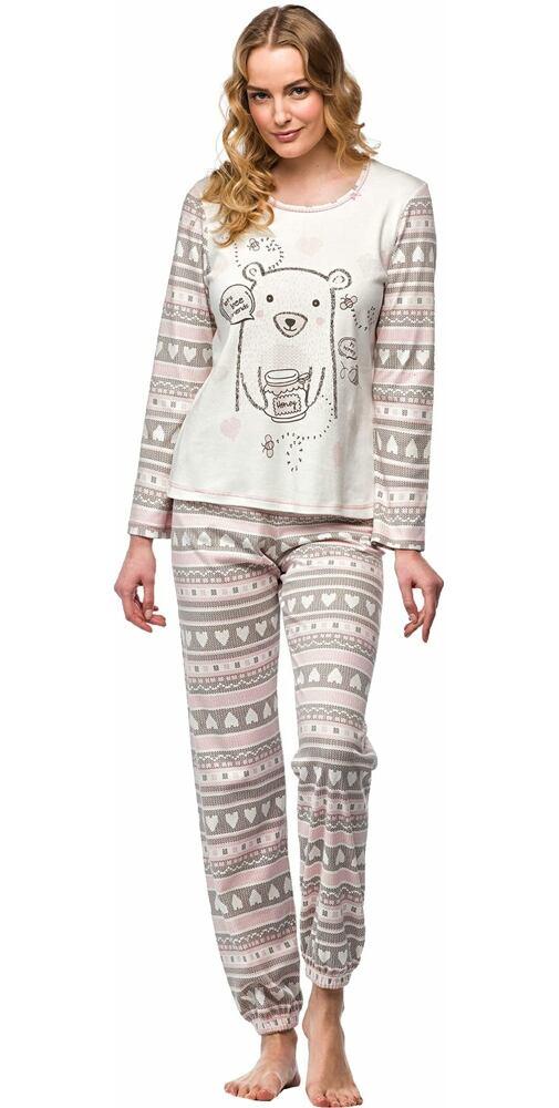 2d909f7351a9 Pyžamo pre dievčatá medveď Vamp! V7454 smotanová - moda-pradlo.sk