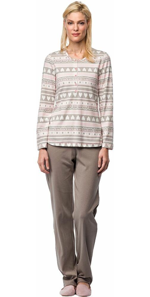 fbec729353e1 Pyžamo na spanie s pleteninovým vzorom Vamp! V7463 - moda-pradlo.sk