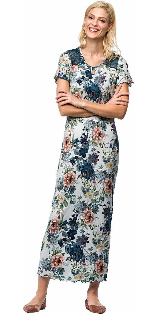 2f58145742c7 Dlhá nočná košeľa na spanie Vamp! V7250 kvety - moda-pradlo.sk