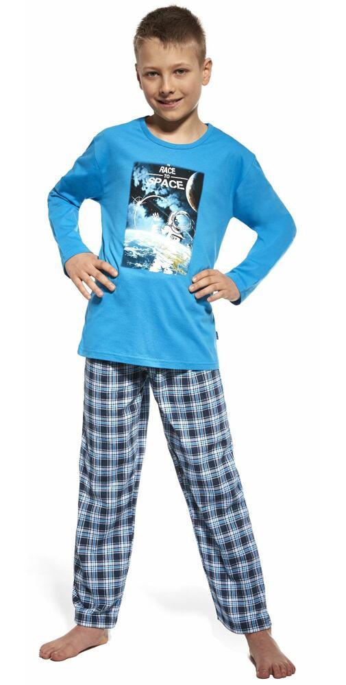 0e9702075 Svietiace pyžamo Cornette Young Space modré - moda-pradlo.sk